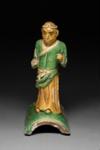 Kattokoriste, seisova apina / Takornament, stående apa / Roof ornament, monkey standing; 1368-1644 AD; DAM6337