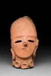 Veistos, naisen pää / Skulptur, kvinnohuvud / Sculpture, head of a woman; AD 500; DAM6640
