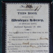 Wesleyan Library Rules (Framed); Bent, Andrew, Carvosso, B Revd; 1825; WHM_2014_0081