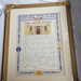 Framed artwork document presented to the Royal Adelaide Hospital from the Return Sailor, Soldiers and Airmen's Imperial League of Australia (S.A.)Inc.; 1947; AR#1100