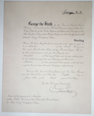 Document::  Member of the Civil Division of the Order of the British Empire