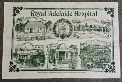 Auxiliary: Tea towel Royal Adelaide Hosptial; c1970; AR#202
