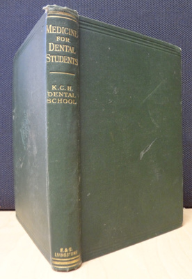Book: Medicine for dental students; 1933; AR#8497