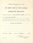 Certificate: Nurses Registration certificates - Valda Rosamond Wiseman; c1942; AR#2229