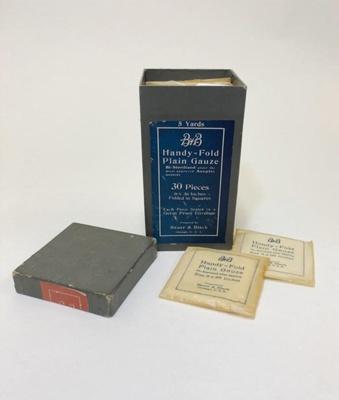 Equipment:  B & B Handy-Fold Plain Gauze; Ca 1910; AR#1520