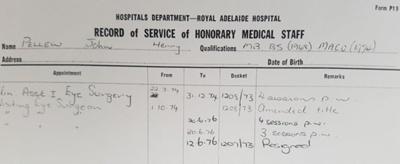 Biography information regarding John Henry Pellew; 1794 - 1976; AR#7284