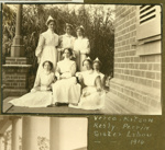 Photograph: Sister Lihou and nurses; 1914