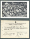 Certificate: Nurse's examination papers, letters, certificates and registration documents; c. 1947 - 1962; AR#1758