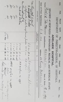 Biography information regarding John Meavious Pedler; 1940 - 1946; AR#7283