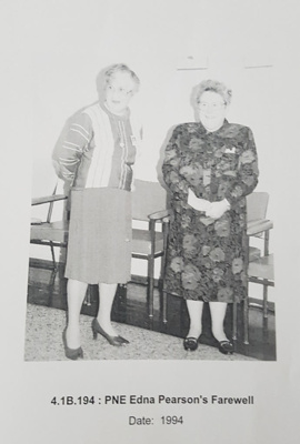 Biography information regarding Edna Pearson; 1993 - 1994; AR#7280