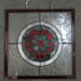 Display purposes: Tudor rose leadlight window; Ca 1960s; TQEH#413