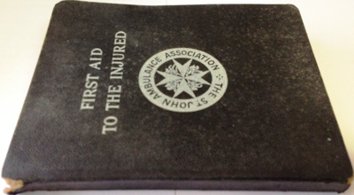 Book: First Aid to The Injured; 1938; AR # 6003