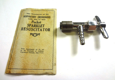 Equipment: Pocket Sparklet Resuscitator; Spaklets Ltd; Ca 1930; AR#1793