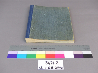 Correspondence book; Unknown; Unknown; 3471.2