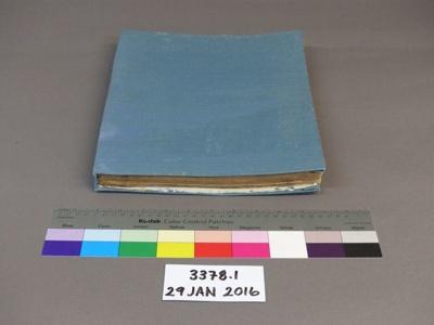 Log book; Unknown; Unknown; 3378.1