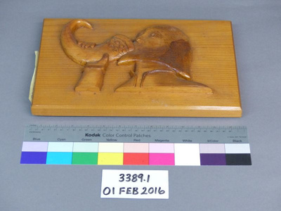 Wood carving; W. G. Quartermain; 1971; 3389.1
