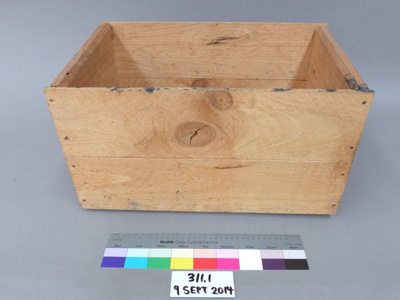 Wooden crate; Unknown; Unknown; 311.1