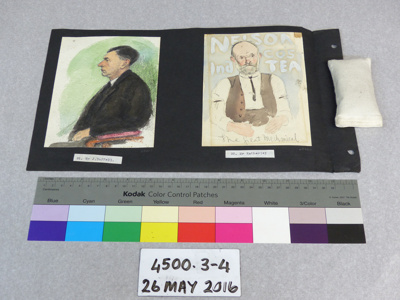 Watercolour portrait; Dr. Charles H. Upham; Unknown; 4500.3