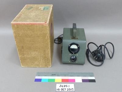 Voltmeter; R.A. Webber Limited; Unknown; 2475.1