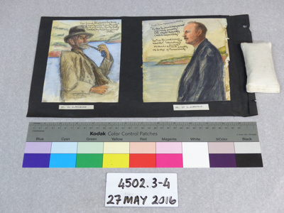 Watercolour portrait; Dr. Charles H. Upham; Unknown; 4502.3