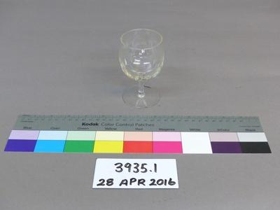 Wine glass; Unknown; Unknown; 3935.1