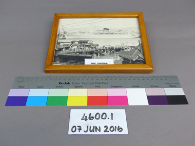 Framed photograph; Unknown; Unknown; 4600.1
