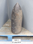 Artillery shell; Unknown; Unknown; 1351.1