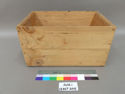 Wooden crate; Unknown; Unknown; 2455.1