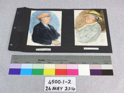 Watercolour portrait; Dr. Charles H. Upham; Unknown; 4500.1