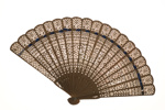 Wooden hand fan; ca 1900; KMBS 1067.3