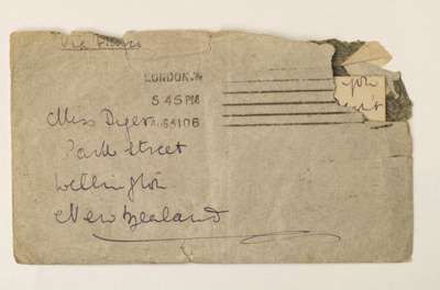 Letter to Lulu Dyer; Kathleen Mansfield Beauchamp (Katherine Mansfield); 31/8/1906; KMBS 1072.6