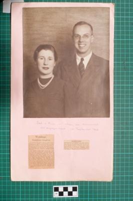 Photograph-Album Page - Donaldson-Laughton Wedding; Gwenda Elizabeth Donaldson; 1940; 6.3.1