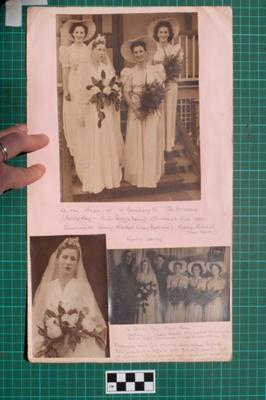 Photograph-Album Page - Donaldson-Laughton Wedding; Gwenda Elizabeth Donaldson; 1940; 6.3.2