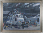 817 Squadron Seaking's in A Hanger; David Marshall; 2012; 41088