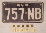 REGISTRATION PLATE; T-245-1
