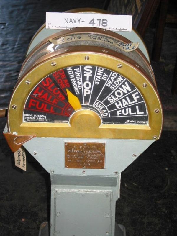 Big Ships Engine Rooms: Main Engine Telegraph; HMAS SUPPLY; Chadburns (Liverpool