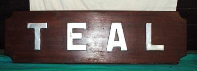 Name board; HMAS TEAL; NAVY-4913-0