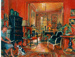 Red room, Sunday afternoon I; Margaret Olley; 2001