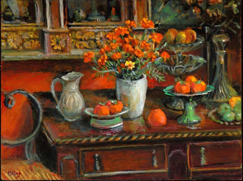 French Marigolds And Fruits Margaret Olley 2007 On Ehive