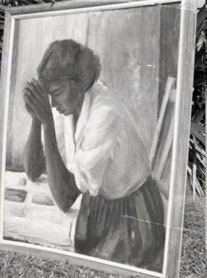 (Aboriginal girl praying); Margaret Olley; 1960s