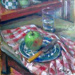 Apple and glass; Margaret Olley; 2005
