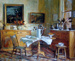 (David Strachan's dining room with white jug II); Margaret Olley; c.1973