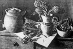 (Kohlrabi and artichokes) ; Margaret Olley; 1974