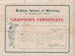 Chaffeur's Certificate; 1910; 010/074c