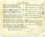 Verse; Trooper Crocket; 17 January 1918; 000/196j