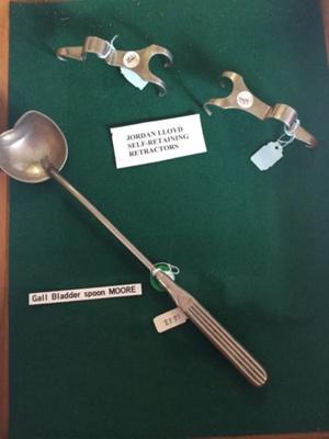 Moore Gall Bladder Spoon and Jordan Lloyd Self retaining retractors ; 5