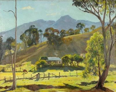 Afternoon Shadow, Warlands Range; John SALVANA, 1873-1956; 1946; 1947_4