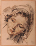Head, French Peasant Girl; J.B. GREUZE, 1725-1805; n.d.; 1935_11