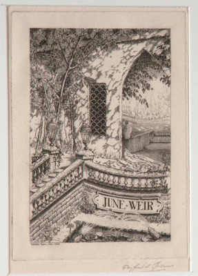 Series of 7 Bookplates (Series A); Gayfield SHAW, 1885-1961; n.d.; 1952_1_2