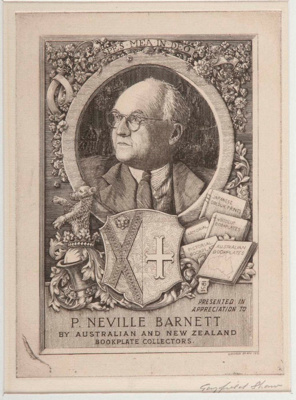 Series of 7 Bookplates (Series A); Gayfield SHAW, 1885-1961; n.d.; 1952_1_1
